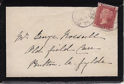 Great Britain SG44 on cover 1876