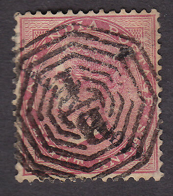 India - used SG49 8a with bold Calcutta cancel
