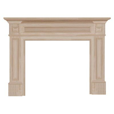 Pearl Mantels Classique Wood Fireplace Mantel Surround - Unfinished