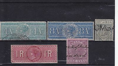 India - Victorian revenue stamps