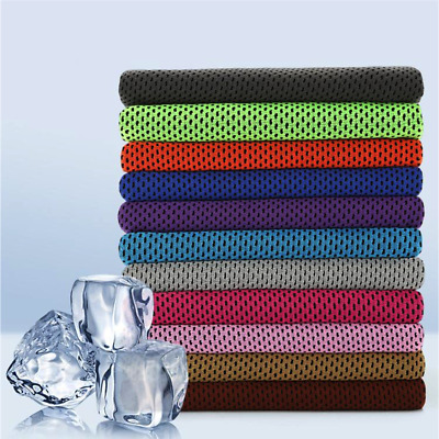 Instant Cooling Towel ICE Cold Golf Cycling Jogging Gym Sports Outdoor