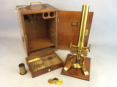 Possible Broadhurst And Clarkson With Swift And Son Brass Objective Microscope