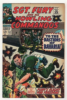 Sgt. Fury LOT (3) FN- #53 63 66 Howling Commandos silver age WAR Severin Ayers