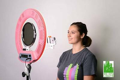 The Ultimate Diva Ring Light (ringlight) with Mirror, Stand and Cellphone Holder