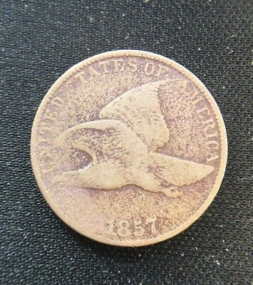 1857 Flying Eagle One Cent Penny Coin