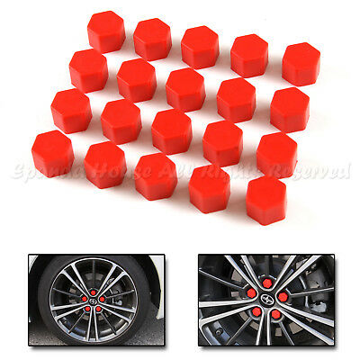 19Mm Usa Diy Soft Pvc Just Came Out Wheel Rim Lug Nuts Covers Cars/bikes Red Hot
