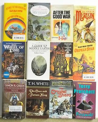 12 books SCIENCE FICTION FANTASY SF FUTURE NOVELS lot #A502 Free US S/H