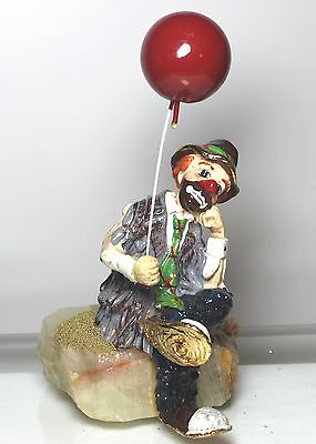 Ron Lee  1986 Clown  Sittin Down  With Ballon Figurine Signed Sculpture  Heavy B
