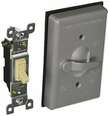BULK Hubbell Bell 5121-0 Single Gang Weatherproof Switch Cover, Gray (4-PACK)