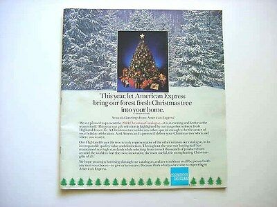 American Express 1984 Christmas Catalog Showing Gift Merchandise.