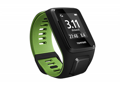 Tom Tom Runner 3 GPS Running Watch - Large Strap, Black/Green
