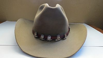 Sterling Silver Fleming Engraved Hat Band w Cowboy Boot Conchos