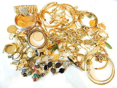 410+ 10K 12K 14K Gold Filled GF Jewelry Lot Watches Bracelet Chains Some Wear
