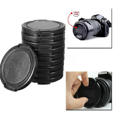 10pcs 49mm Centre Pincée et Grip Lens Cap Couverture Pr Canon Nikon DSLR Camera