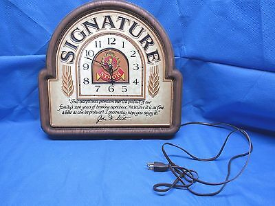 Stroh Signature Plastic Adveristing Clock Sign Working Condition
