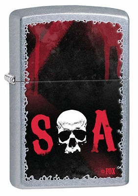 Zippo Windproof Sons Of Anarchy Lighter With Skull, 28836,  Brand New In Box