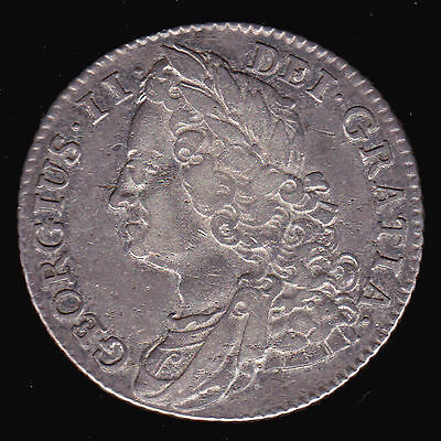 UK Britain 1743 One 1 Shilling KM# 583.1 VF George II Silver English coin