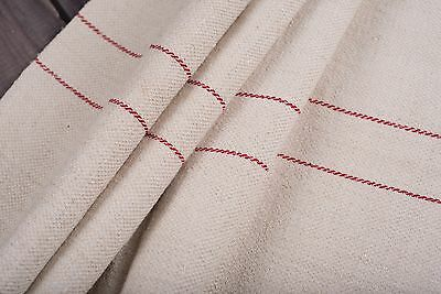 upholstery Red stripes grain sack rustic or Grain sack hemp pillow decoration