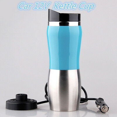 Portable Car 12V Stainless Steel Kettle Cup Warm Hot Water 100° Heater Kettle