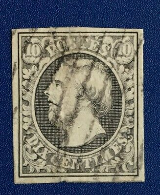 Luxembourg Stamp 1a 1852 Used NHNG F-VF Great Margins. Rm*