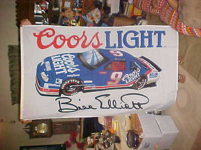 NIP Coors Light Nascar Flag 60 X 35 BILL ELLIOTT #9 car ship free