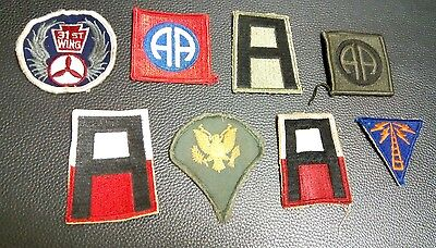 Lot of 8 Vintage US ARMY & Military Shoulder Patches