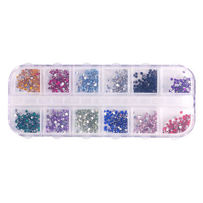 3000pcs DIY 3D Nail Art Tips Gems Crystal Glitter Rhinestones Wheel Decoration