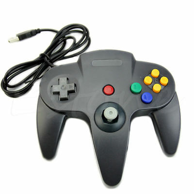 Black Retrolink Wired Classic Nintendo 64 N64 USB Controller for PC MAC Computer