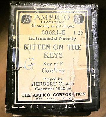AMPICO Player Piano Roll #60621-E Zez Confrey KITTEN ON THE KEYS, Herbert Clark