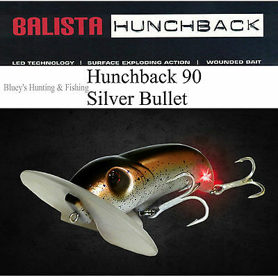 Balista Led technology hunchback 90 mm surface Cod Lure;Silver Bullet SALE
