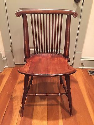 Vintage 1800 1900's Grand Rapids Michigan Wooden Windsor Side Chair Turned Ohio