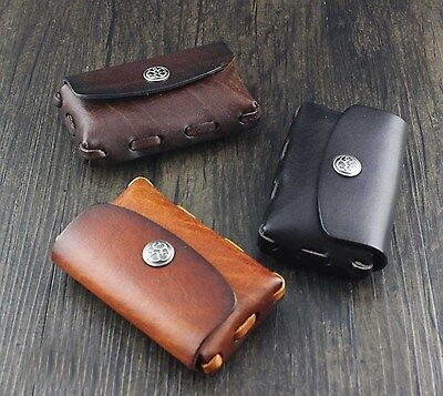 Mens Womens Genuine Leather Coin Notes Change Purse Pouch Wallet Holder
