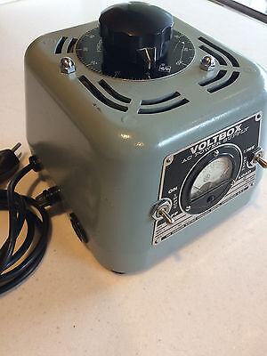 VOLTBOX 7.5A Powerstat Ultimate Variac by Superior Electric, Meter and Chrome