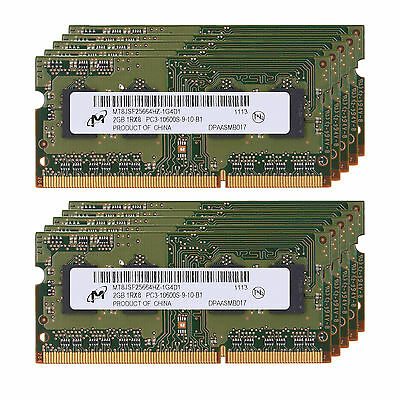 Micron 16GB (8x2GB) DDR3-1333MHz PC Laptop Notebook Memory PC3-10600 SO-DIMM RAM