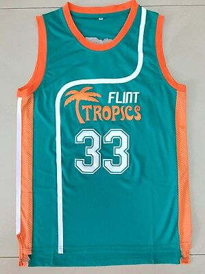 Jackie Moon #33 Flint Tropics Semi Pro Movie Basketball Jersey Teal