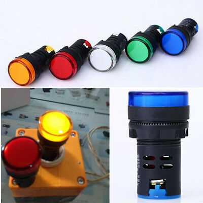 LED Pilot Panel 22mm Indicator Signal Warning Light Lamp AC/DC/AD H OAC Good
