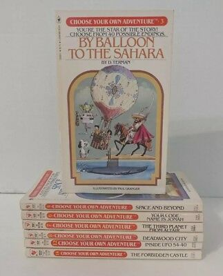 Lot of 7 Vintage 1980s Choose Your Own Adventure CYOA Paperback Books