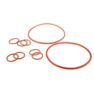 20Pcs 24mm-32mm Outside Dia x 2.4mm Thickness Industrial Red Viton O Ring Seal