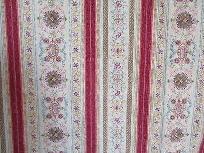 Vintage French Large Fabric Panel / Lined Curtain
