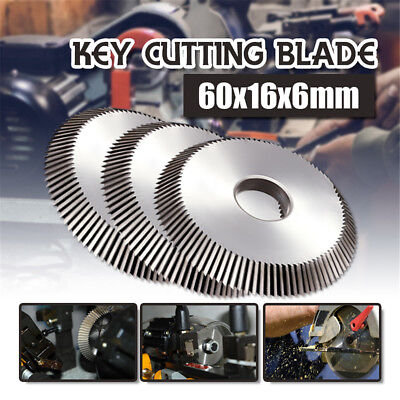 16x60x6mm Key Cutting Blade Disk Cutter Locksmith For All Horizontal Key Machine