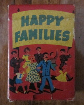 Vintage Happy Families Card Game Made In England By Tower Press