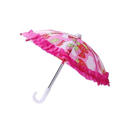 18inch Doll Accessory Strawberry Pattern Umbrella for American Girl Clothes