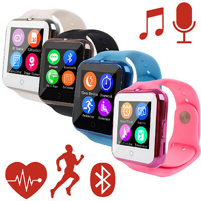 Bluetooth Heart Rate Monitor Smart Watch Android V88 Wristwatch Camera Kids Gift