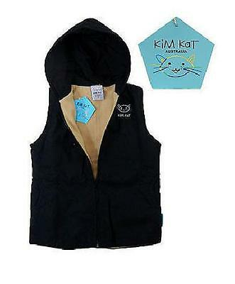 Boys Kim Kat Hooded Fleecy Navy Blue Vest BNWT