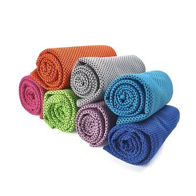 2x Instant Cooling Towel ICE Cold Golf Cycling Jogging Gym Sports Outdoor TOWEL