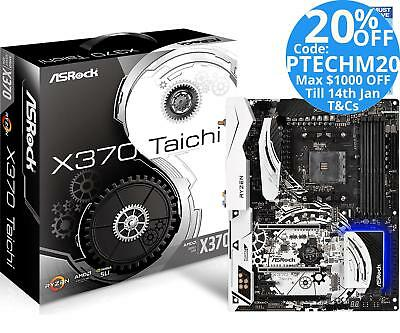 Asrock X370 Taichi AMD Ryzen AM4 ATX Motherboard DDR4 M.2 RGB LED WiFi USB 3.1