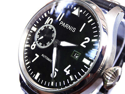 STUNNING Vintage Style 47mm BIG PILOT AUTOMATIC Aviator Military Army Watch