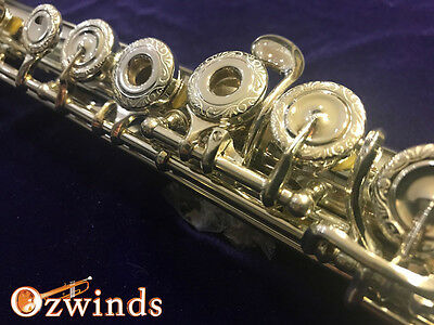 Jupiter 1011-SRBEA diMedici Hand Crafted Engraved Flute, Sterling Silver, B Foot