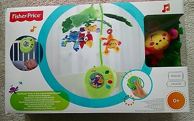 Set of Fisher Price Rainforest Musical Mobile& Rainforest gym, great condition!