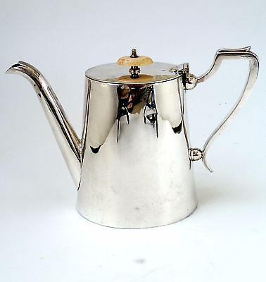 Silver Classic  Teapot Plain Cylindrical Form